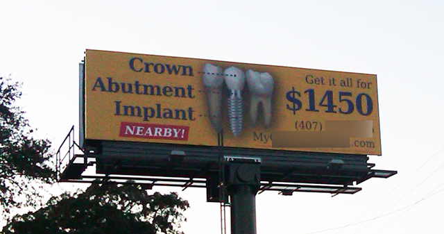 dental implant billboard