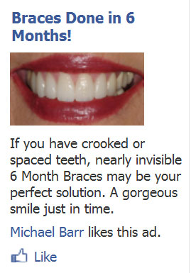 Facebook ad - The Dental Warrior