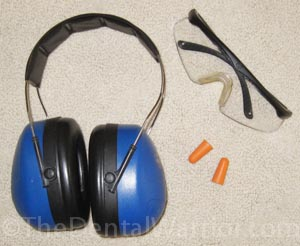 I prefer to double-up on hearing protection by using foam plugs and over the ear muffs.