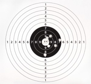 Paper target for shooting practice
