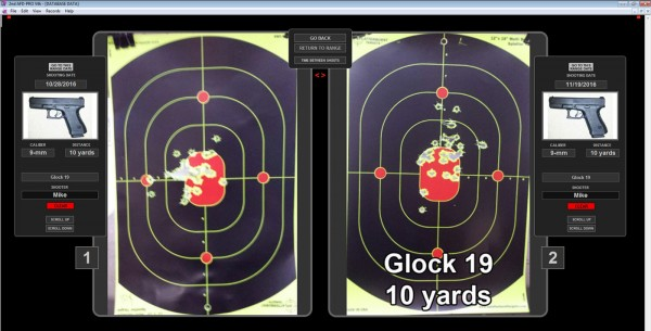 Gun range record log app