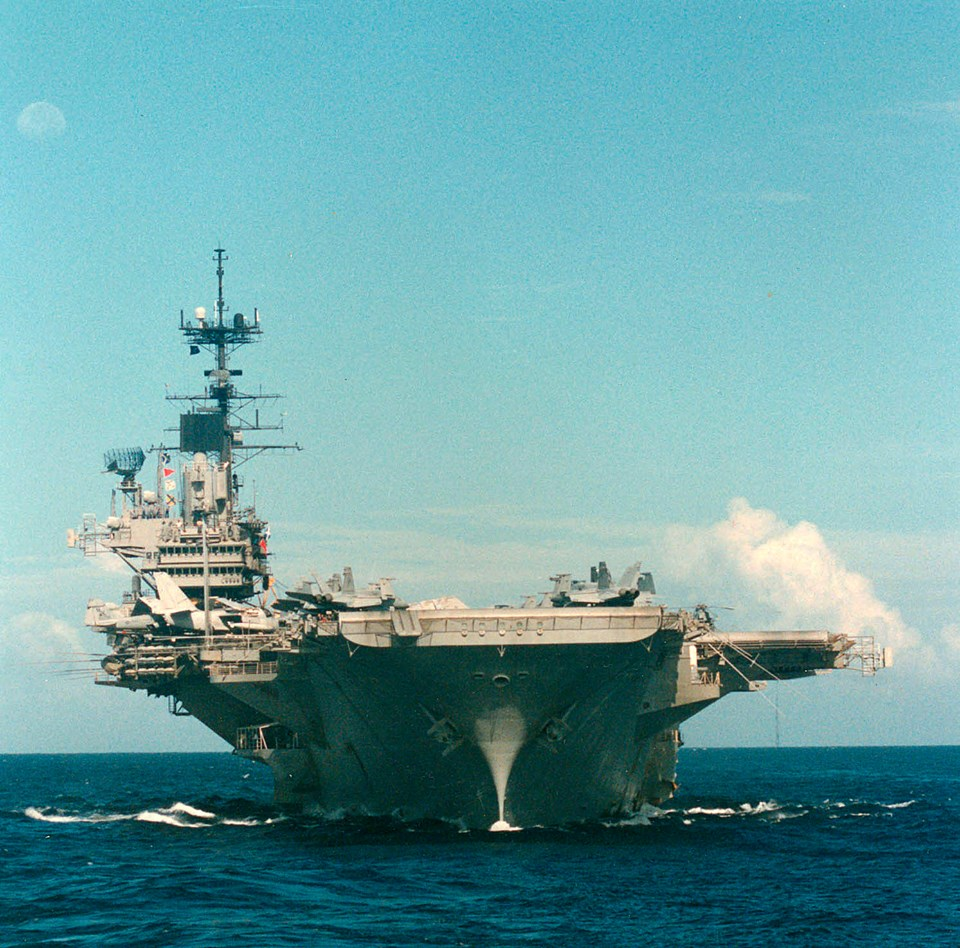 USS Independence November 1991 Indian Ocean
